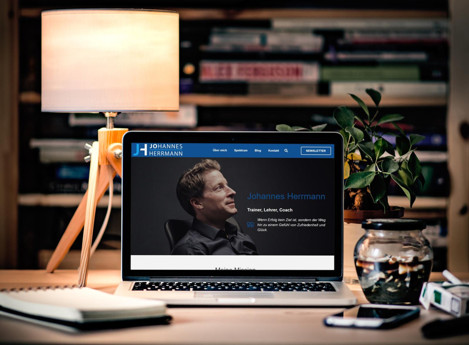 Johannes Hermann - Website Mockup